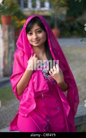 Beautiful Newari Woman From Nepal Nepal Kathmandu Stock