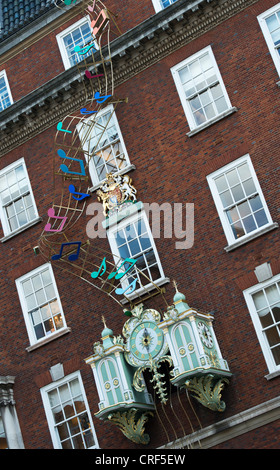 Fortnum and Mason shop front facade. Piccadilly road. London, England - Stock Photo