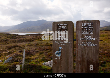The Loch Druidibeg National Nature Reserve on the Outer Hebrides island of South Uist - Stock Photo