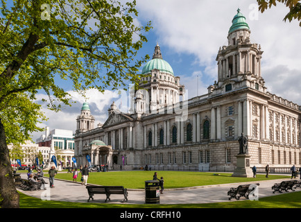 Belfast City Hall, Belfast, Northern Ireland - Stock Photo