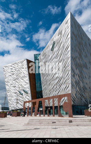 The Titanic Centre in Belfast - Stock Photo