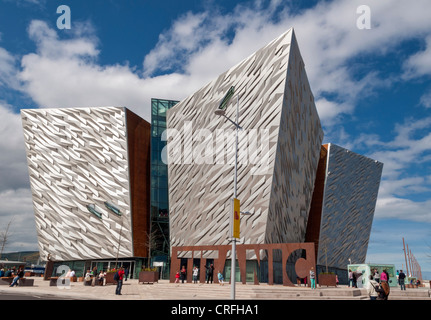 Titanic Centre in Belfast, Northern Ireland - Stock Photo