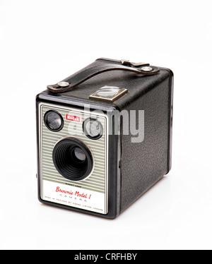 Kodak Box Brownie Model 1 vintage camera - Stock Photo