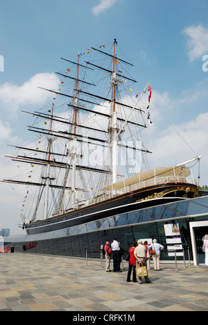 The Cutty Sark ship after its £50 restoration lasting six years, Greenwich, London, UK. - Stock Photo