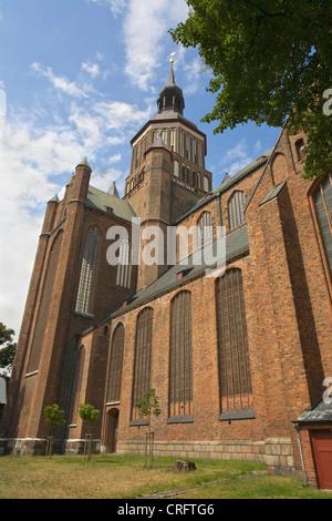 St. Mary's church, Germany, Mecklenburg-Western Pomerania, Stralsund - Stock Photo