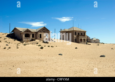 school house in Kolmanskop, abandoned diamond town, Namibia, Luederitz - Stock Photo