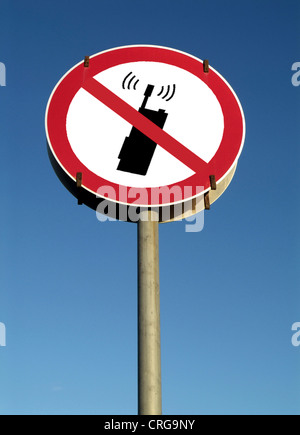 symbolic sign for No mobile phone - Stock Photo