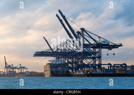 Felixstowe Docks and Container port, Suffolk, England. - Stock Photo