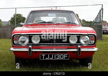 A British Ford Cortina GT dating from about 1968. - Stock Photo
