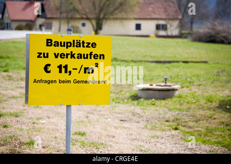information sign for sale - Stock Photo