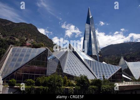 Thermalbad Caldea, Andorra, Andorra la Vella - Stock Photo