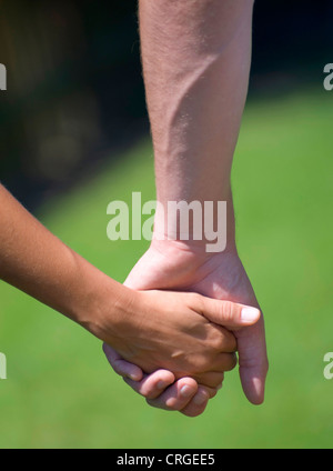 couple, hand in hand - Stock Photo