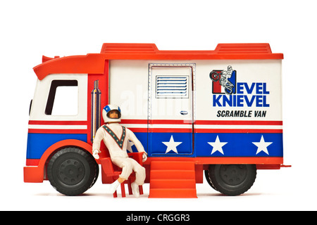 1973 Evel Knievel 'Scramble Van' toy by Ideal - Stock Photo