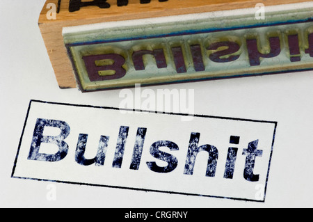 stamp with the inscription 'bullshit' - Stock Photo