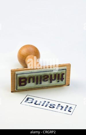 stamp with the inscription 'bullshit' - Stock Photo