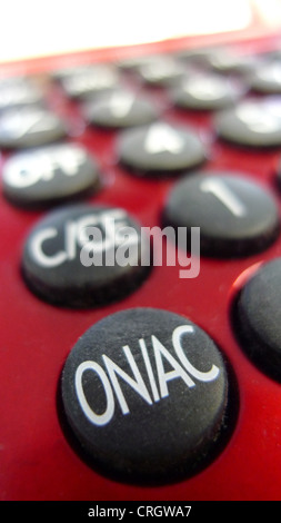 on-off switch of pocket calculator Stock Photo