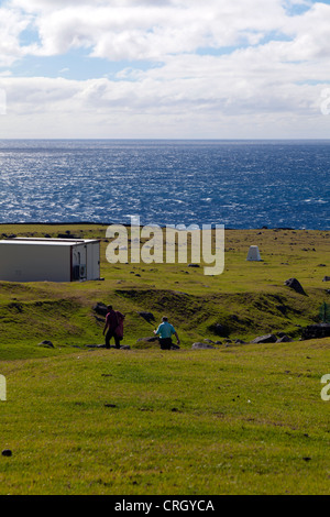 The remotest golf course in the world at Tristan da Cuhna - Stock Photo