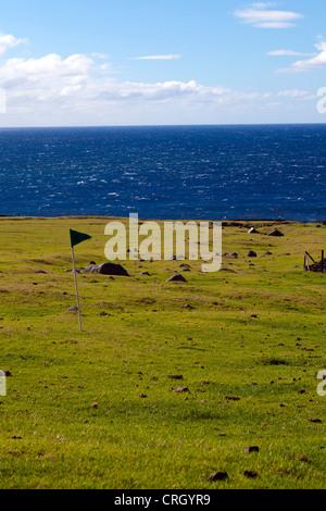 The most remote golf course in the world, Tristan da Cunha - Stock Photo