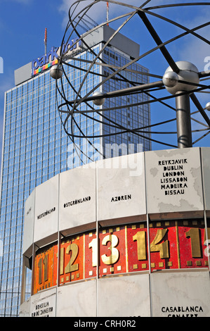 Berlin, Germany. Weltzeituhr / World Time Clock in Alexanderplatz - Stock Photo