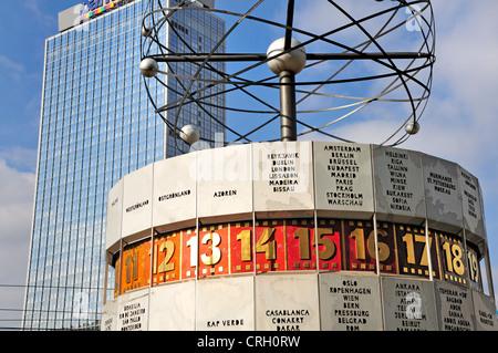 Berlin, Germany. Weltzeituhr / World Time Clock in Alexanderplatz - Stock Photo
