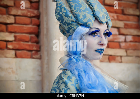 Young woman wearing costume for the Carnival of Venice, Italy - Stock Photo