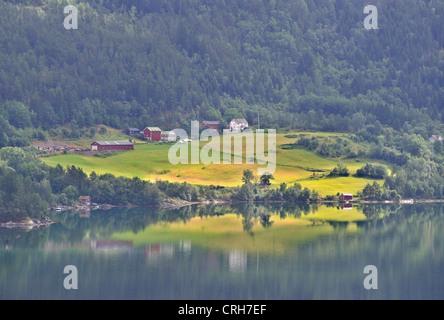 Hardanger Fjord near Ulvik, Norway - Stock Photo