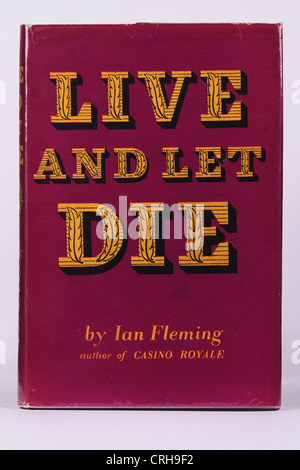 Live and Let Die by Ian Fleming James Bond 007 Book Cover Original First Edition - Stock Photo