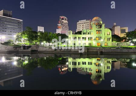 Hiroshima, Japan Peace Memorial Park and Atomic Bomb Dome. - Stock Photo