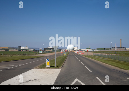 Caithness North Scotland Dounreay nuclear Power station with its atomic reactor - Stock Photo