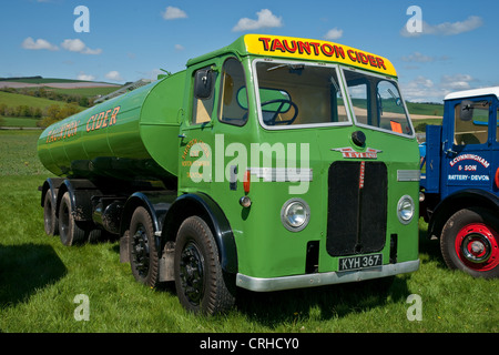 Leyland Octopus tanker on display at a country fair, - Stock Photo