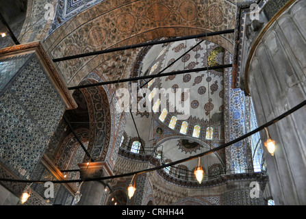 Interior of the Blue mosque, Istanbul, Turkey - Stock Photo