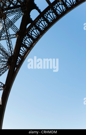 Arch of Eiffel Tower, Paris, France Stock Photo