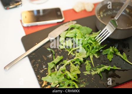 Arugula salad - Stock Photo