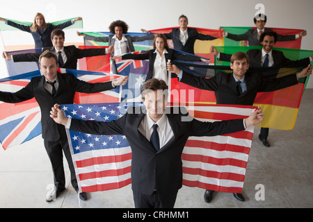 International businesses are the faces of contemporary geopolitics - Stock Photo