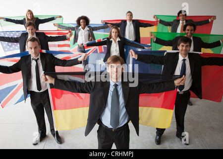 Global business leaders represent many nations - Stock Photo