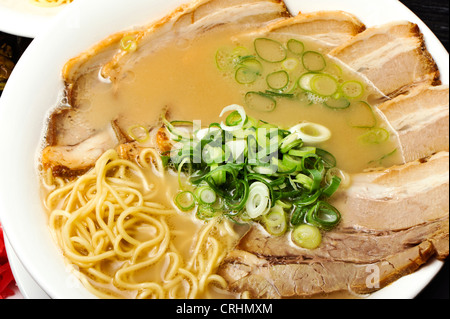 close up of char sui ramen - Stock Photo