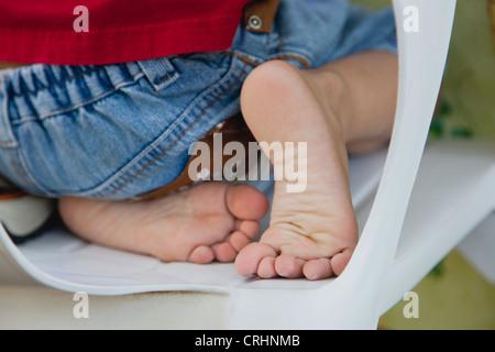 Boy's bare feet - Stock Photo