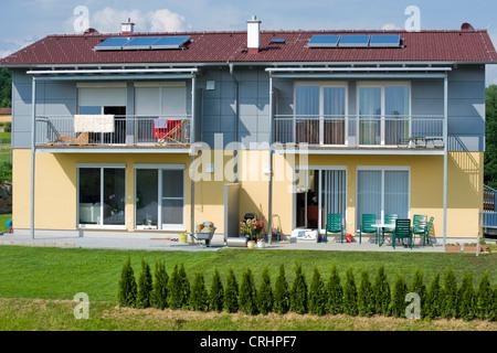 semi-detached house - Stock Photo