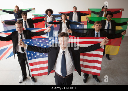 Nations vie for shares of global business - Stock Photo