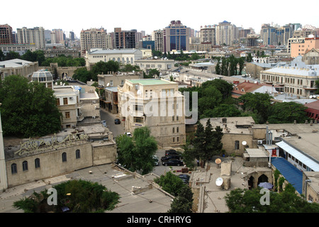Baku, view on city, Azerbaijan, Baku - Stock Photo