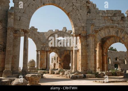 St. Simeon basilica, Syria, Qala'at Samaan - Stock Photo