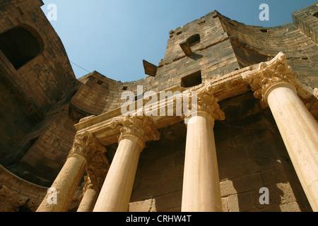 Roman theatre in Bosra, Syria - Stock Photo
