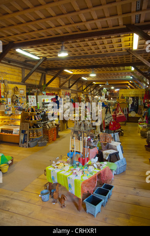 Makasiini shop interior built into former railway building at old station Porvoo Uusimaa province Finland northern - Stock Photo