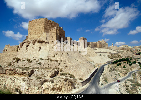 crusader castle of Karak, Jordan, Karakoram Highway - Stock Photo