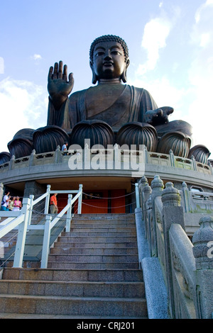 The Tian Tan Buddha, Lantau Island, Hong Kong - Stock Photo