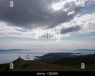 Loch nan Uamh from Sidhean Mor, Arisaig, Scotland - Stock Photo