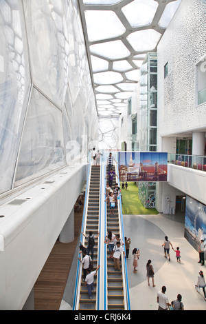Beijing National Aquatics Center , 'Water Cube', interior - Stock Photo