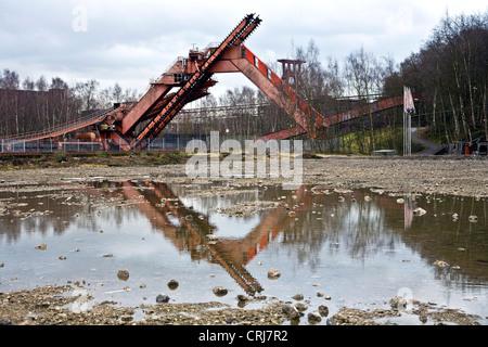coal digger of coal mine Zollverein in Essen Katernberg, Germany, North Rhine-Westphalia, Ruhr Area, Essen - Stock Photo