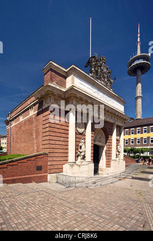 Berliner Tor, Berlin gate, in Wesel in Lower Rhine region, Niederrhein, Germany, North Rhine-Westphalia, Ruhr Area, - Stock Photo