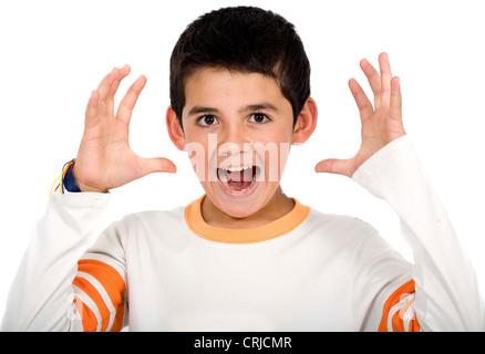 boy stressed - Stock Photo
